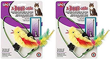 Ethical A-Door-Able Plush Bird Cat Toy with Feathers (2 Pack)