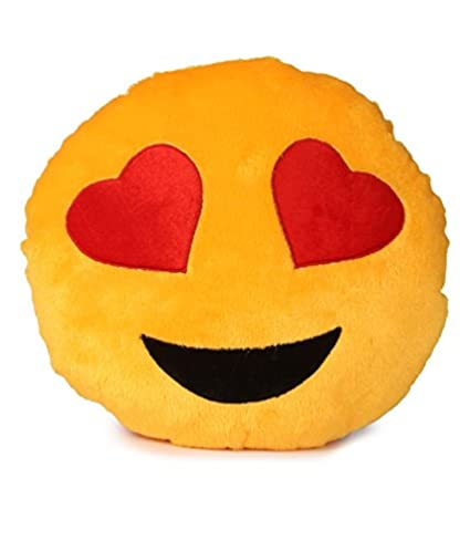77791a19410 Buy Deals India Yellow Heart Eyes Smiley Cushion, Yellow Online at Low  Prices in India - Amazon.in