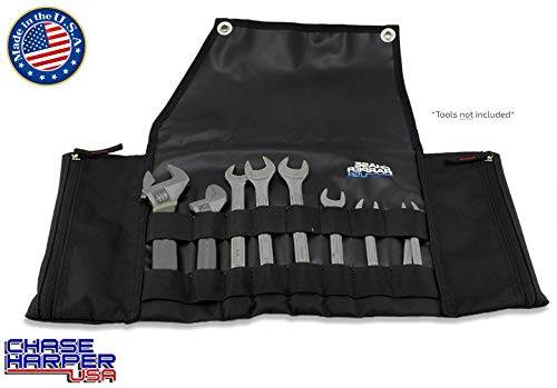 Chase Harper 8-Pocket Tool Roll Black 8875BK - Nylon Roll Tool