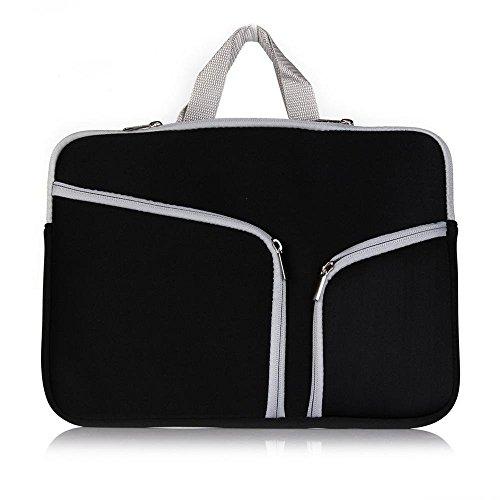 "Price comparison product image Computer Bag 15""15 inch, TechCode Zipper Sleeve Tablet Bag Handbag Briefcase Messenger Bag Cover Case for all Laptop 15 inch Macbook Pro / Macbook Unibody"