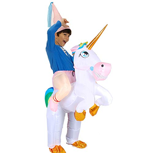 Inflatable Unicorn Costume for Kids and Adults,