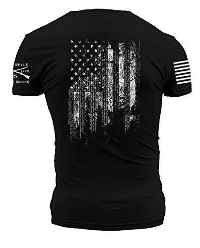 Grunt Style 1776 Flag Men#039s TShirt Color Black Size XXLarge