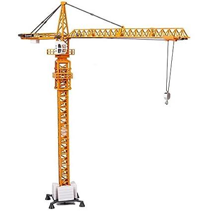 amazon com 1 50 tower crane diecast car model car toys games
