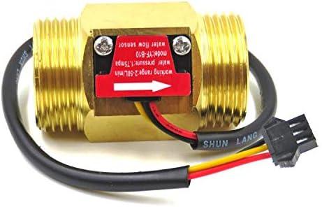 KUNSE Misuratore di Portata per Sensore Hall Sensore di Flusso dAcqua da 1 inch Misuratore di Portata Dn25 Ottone Misuratore di Portata A Turbina Industriale Sensore di Flusso dAcqua