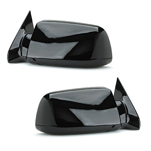 88 - 98 Chevrolet Silverado GMC Sierra Door Mirror Manual Black Pair Set Blazer Jimmy Suburban Tahoe Yukon Driver and Passenger by Not OEM (Blazer Door Mirror)