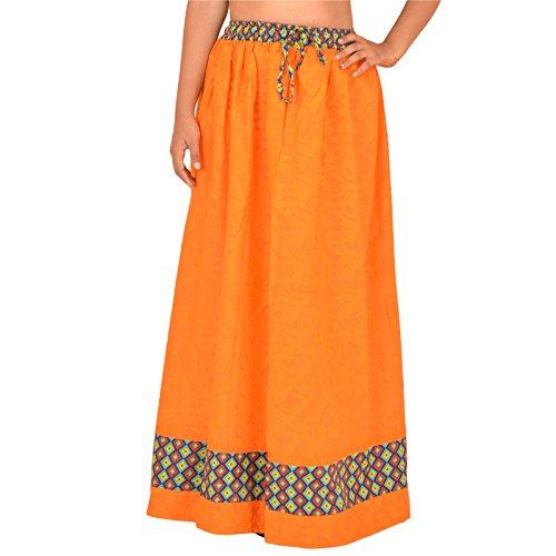 Femme Scarves Trapze rouge Skirts Orange Red amp; Jupe gZnxSPS