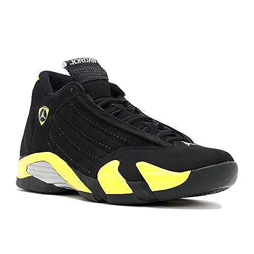 finest selection 6794b 3c431 ... best price air jordan 14 mens shoes black vibrant yellow white 487471  070 11 dm us