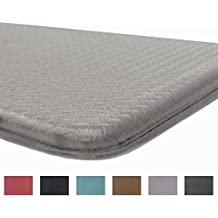 Rochelle Collection Premium Anti-Fatigue Comfort Mat. Multi-Purpose Decorative Non-Slip Standing Mat for the Kitchen, Bathroom, Laundry Room or Office. By Home Fashion Designs Brand. (Dove Grey)