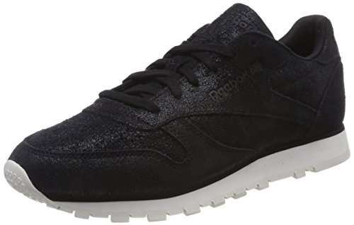 Reebok Baskets Chatoyante En Cuir Classique Damen Schwarz (blackchalk)