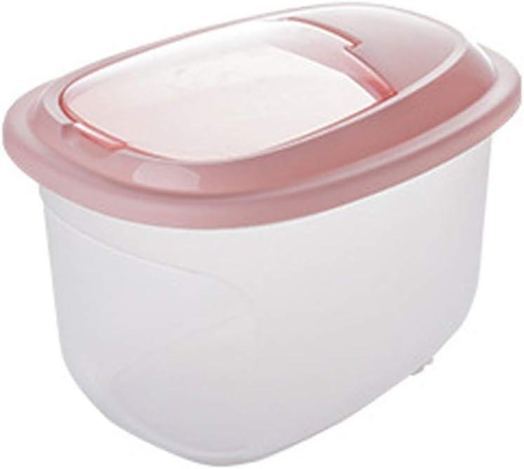 Contenedor de Almacenamiento de arroz Grandes contenedores de Almacenamiento envase de alimento seco harina de arroz dispensador for Mascotas Dog Food Bin Alimentos con Tapa BPA Rice