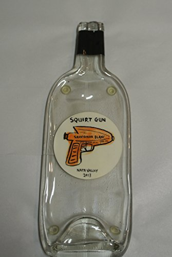 Squirt Gun Winery Melted Wine Bottle Cheese Serving Tray - Wine Gifts