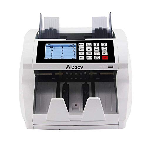 - Aibecy Bill Counter Multi-Currency Mixed Denomination Count Automatic Counting Machine LCD Display with UV MG IR Counterfeit Detector Value Image Shows Usage and Common Problems