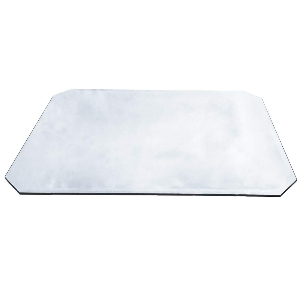 Milan CC263110BEC 26'' x 31'' Rectangle Glass Top 3/8'' Thick with 1'' Bevel Edge and Cut Corners