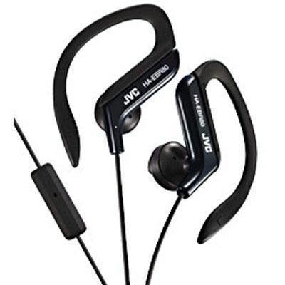 JVC Sports Ear Clip Headphones With Mic And Remote-Black - Jvc Ear Clip Headphones