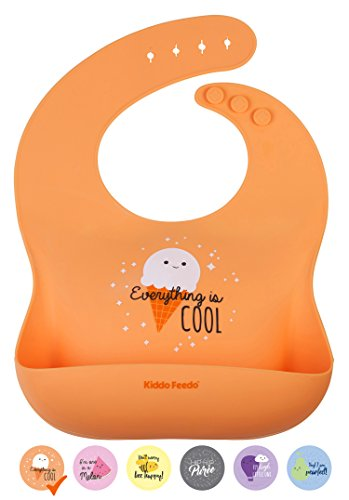 KIDDO FEEDO Silicone Weaning Bib for Baby Boys and Girls - 6