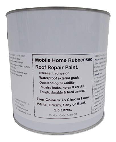 1 x 2.5lt Repair Leaking Roof Paint, For Mobile Home, Caravan Horse Box...