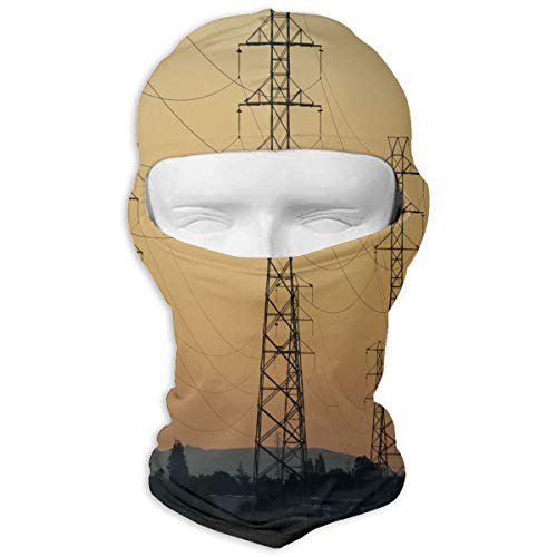 Balaclava Sunset, Dusk, Sky, Power Lines Full Face Masks UV Protection Ski Hat Mask Motorcycle Hood for Cycling Snowboard Women Men