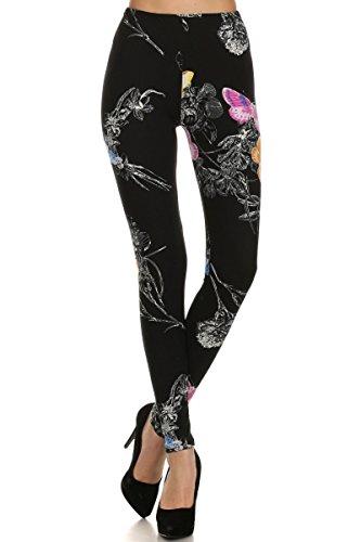 Ultra Soft Printed Fashion Leggings - Butterflies