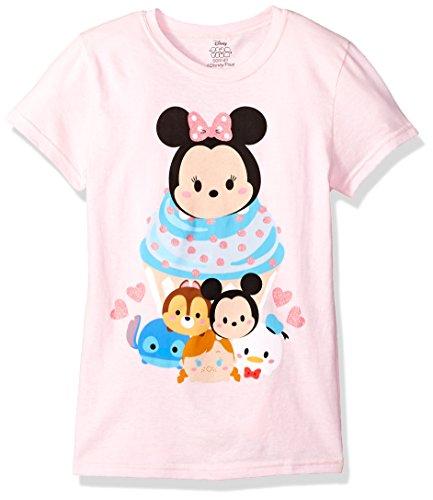 Price comparison product image Disney Little Girls' Tsum Tsum T-Shirt,  Light Pink,  L-6X