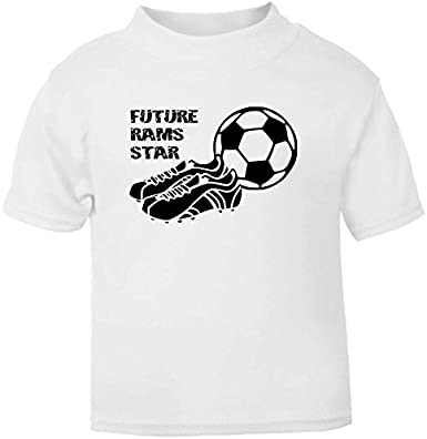 Hat-Trick Designs Derby County Football Baby Childrens T-Shirt Top-White-Future Star-Unisex Gift