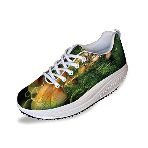 (Mushroom Stylish Shake Shoes,Fairy Woman in Enchanted Forest Elf Pixie Fungus Growth Flowers Grass for Women,6)