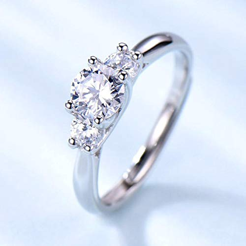 Amazon Com 3 Stones Cz Diamond Engagement Ring Cubic Zirconia