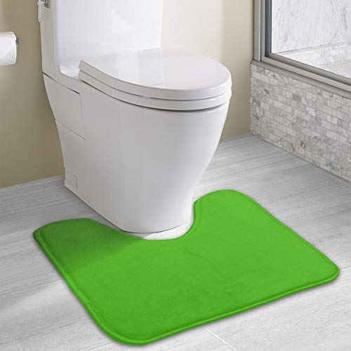 MOANDJI Bathroom Rug Kelly Green Solid Color Bathroom Accessories Perfect Mats for Tub/Shower & Bath Room 19.3