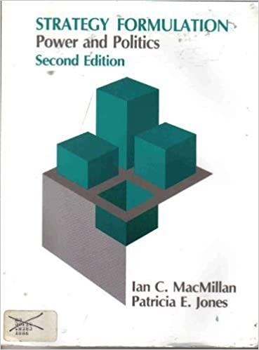 Book Strategy Formulation: Power and Politics (West Series in Strategic Management) by Ian C. Macmillan (1985-11-03)
