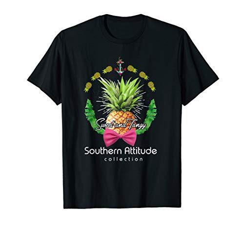 Southern Attitude Pineapple Sapphire T shirt for Women, Men