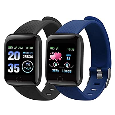 SJUTALR 1pcs Smart Bracelet Color Screen Blood Pressure Heart Rate Monitor Smart Wristbands Fitness Tracker For IOS Android Estimated Price £29.98 -