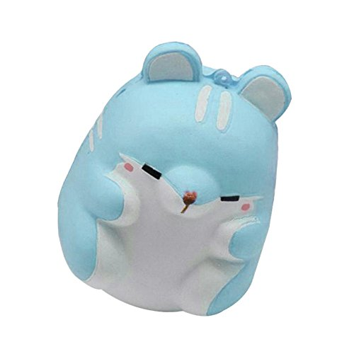 Hot Sale!! ZOMUSA Fun Hamster Squishy Decor Slow Rising Kid Toy Squeeze Relieve Anxiety Gift (blue)
