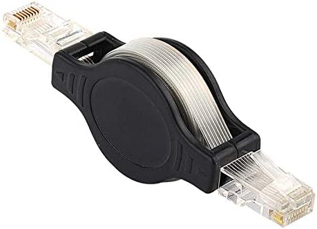 Ideal for Travel Retractable Cable Length : 1.5 Meter,Mini Shape Todayday Normal CAT5e Retractable RJ45 to RJ45 Cable