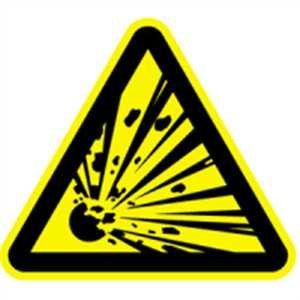 Aufkleber Warnzeichen Warnung vor explosionsgefährlichen Stoffen 10cm sl Folie