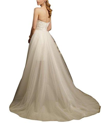 Elfenbein All BRIDE Schatz High Hochzeitskleider Over GEORGE Zug Lace Freistehendes Low Brautkleider traegerloser d7Cwx7nXq