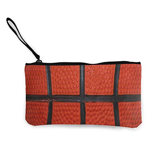 Canvas Coin Purse Basketball Skin Texture Customs Zipper Pouch Wallet For Cash Bank Car Passport (Mini Basketball Bank)