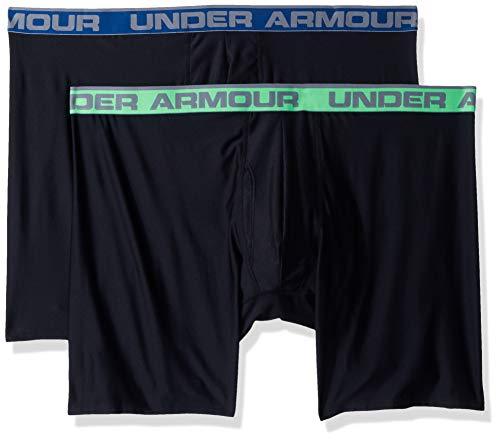 Under Armour Men's O-Series 9in Boxerjock (2 Pack), Black (001)/Black, Large
