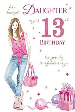 Daughter 13 13th happy birthday girl handbag design good quality daughter 13 13th happy birthday girl handbag design good quality card with a lovely verse bookmarktalkfo Gallery