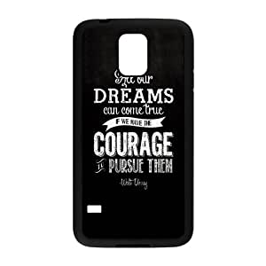 Walt Disney Dream Quotes Design Hard Case Cover Protector For Samsung Galaxy S5