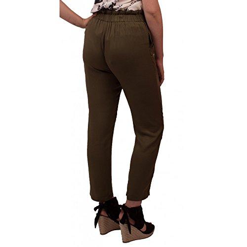 94aabbbe007e Primtex Pantalon Femme Taille Haute Fourreau Ceinture Noeud Effet Coton-M   Amazon.fr  Vêtements et accessoires