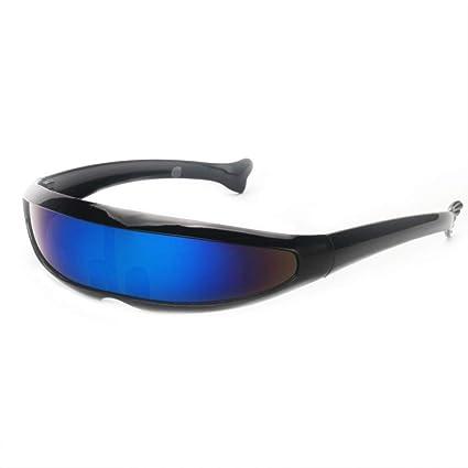 WWVAVA Gafas de Fiesta Futurista Narrow Cyclops Gafas de Sol ...