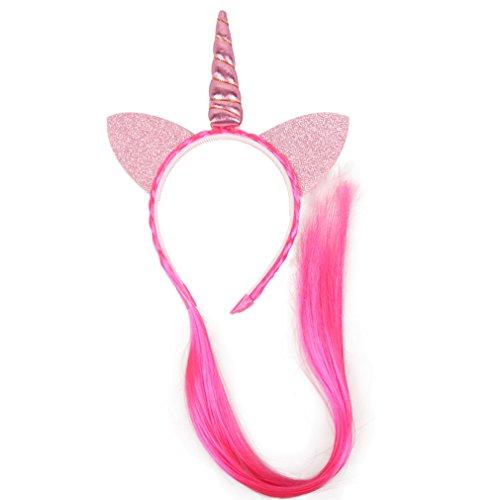 HENGSONG Rose Bandes de Cheveux de Licorne Enfants Tresses de Perruque Ornements de Cheveux