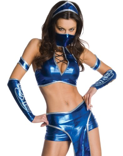 (Secret Wishes Womens Kitana Mortal Kombat Costume, Blue,)