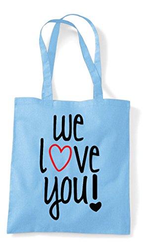 Tote Shopper We Love Sky You Blue Bag 8PvwPE7Uqz