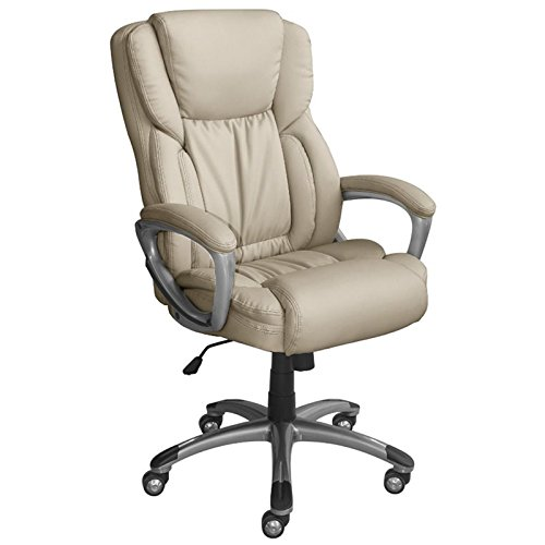 Serta Works Executive Office Chair, American Beige Bonded Leather ()