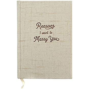 reasons i want to marry you wedding gift notebook write love letters to and from bride groom linen hardcover letterpress and embossed journal for