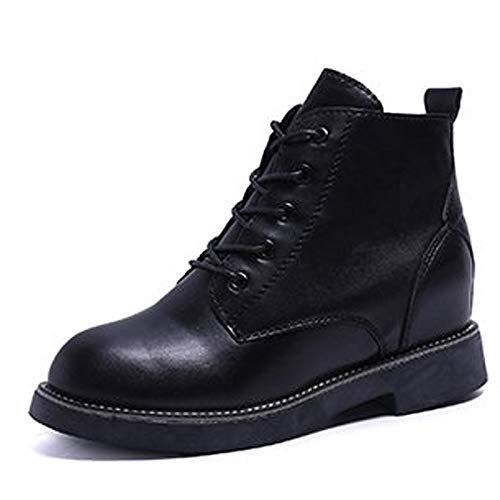 Black US8   EU39   UK6   CN39 Black US8   EU39   UK6   CN39 Women's Combat Boots PU Fall Boots Low Heel Round Toe Black