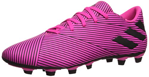 adidas Men's Nemeziz 19.4 Firm Ground Soccer Shoe, Shock Pink/Black/Shock Pink, 9.5 M US