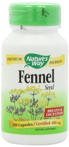 Экстракт семян фенхеля, 100 табл., 2 упаковки, Nature's Way (Nature's Way Fennel Seed, 100 Capsules (Pack of 2))