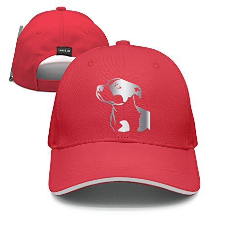 lsawdas Pitbull Platinum Style Sandwich Cap Sports Caps (Pit Red Bull Puppies Nose)