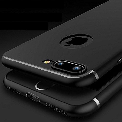iPhone Hülle, 360°Komplettschutz [Schwarz] Vorder- und Rückseiten Schutz Schale mit integriertem Panzerglas in perfekte Passform / 2-teilige Premium 360 Grad PC-Material Schutzhülle Cover für iPhone 6